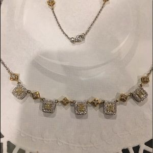 Jewelry - SOLD ON EBAY Natural Fancy Yellow Diamond Necklace